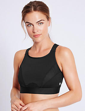 Extra High Impact High Neck Sports Bra A-G