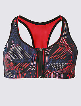 Extra High Impact Zip Front Sports Bra A-G
