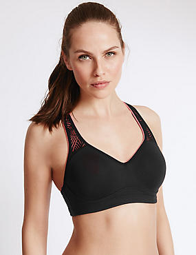 Breathable High Impact Underwired Padded Sports Bra A-DD