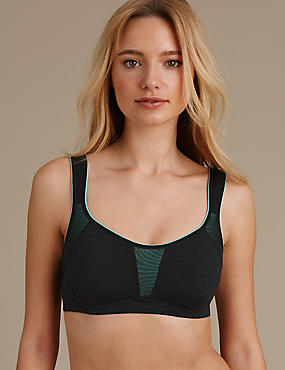 High Impact Flexi Wire Non Padded Sports Bra A-G