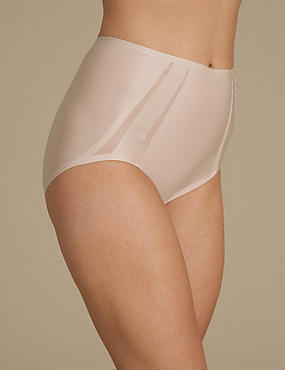 Light Control Sheer Shaping Mesh High Leg Knickers