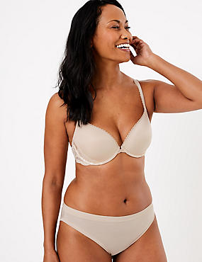 Perfect Fit Padded Push-Up Bra A-E, ALMOND, catlanding