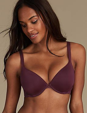 Lace Padded Push-up Bra A-E, BLACKCURRANT, catlanding