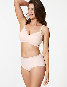 2 Pack Light Control No VPL Full Brief Knickers , PALE ROSE, catlanding