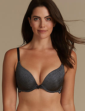 Decorine Padded Push-Up Plunge Bra AA-DD