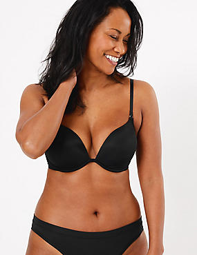 Padded Push-up Bra with Extra 2 Cups, BLACK, catlanding
