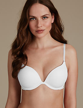 Padded Push-up Bra with Extra 2 Cups, WHITE, catlanding