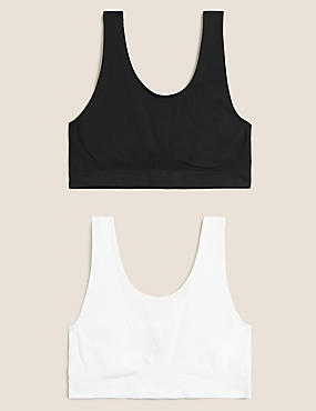 2 Pack Non-Wired Full Cup Seamfree Crop Tops