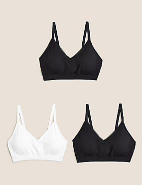 2 Pack Medium Control Secret Slimming™ Brazilian Knickers, BLACK MIX, catlanding