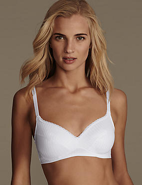 2 Pack Textured Non-Wired Bras A-DD