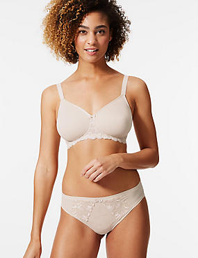 Smoothing Lace Wing Non-Wired Full Cup Bra A-E