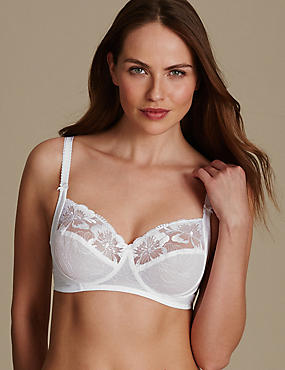 Embroidered Set with Non-Padded Full Cup B-E