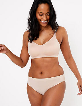 Flexifit™ Smoothing Non-Padded Full Cup Bra A-F, ALMOND, catlanding
