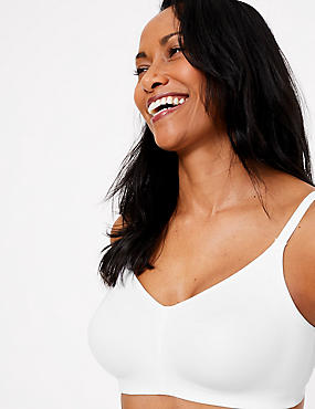 Flexifit™ Smoothing Non-Padded Full Cup Bra A-F, WHITE, catlanding