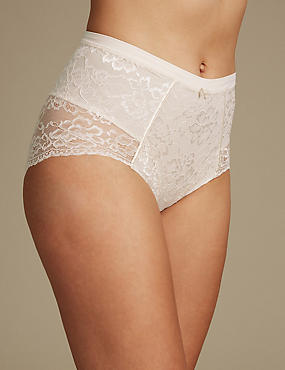 Louisa Lace Firm Control Full Briefs