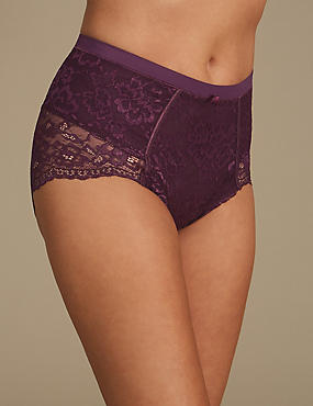 Firm Control Floral Lace Full Briefs