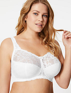 Total Support Non-Padded Full Cup Bra B-G, WHITE, catlanding