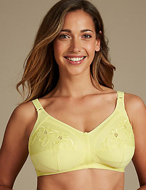 Total Support Embroidered Full Cup Bra D-K, CITRUS, catlanding