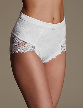 Firm Control Floral Lace Full Brief Knickers
