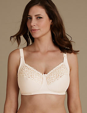 Total Support Vintage Lace Non Padded Full Cup Bra B-G
