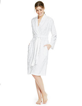 Jacquard Spotted Dressing Gown