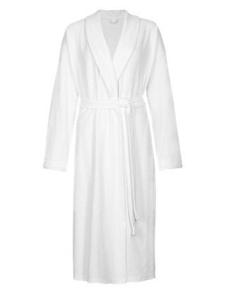 Cotton Rich Baby Terry Wrap Dressing Gown with Belt Clothing