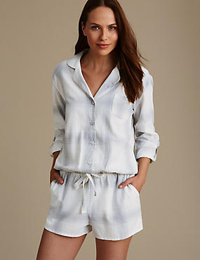 Pure Cotton Lurex Check Romper