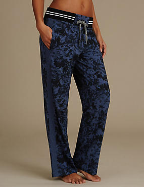 Floral Print Wide Leg Pyjama Bottoms