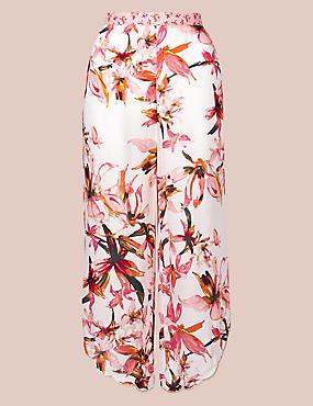 Pure Modal Floral Print Pyjama Bottoms , PINK MIX, catlanding