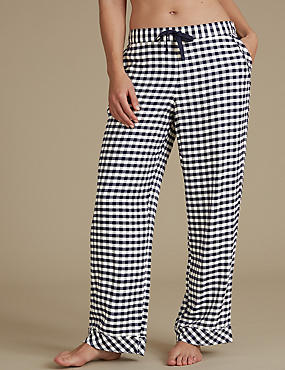 Gingham Pyjama Bottoms