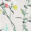 Floral Print Cuffed Hem Pyjama Bottoms, OATMEAL MIX, swatch