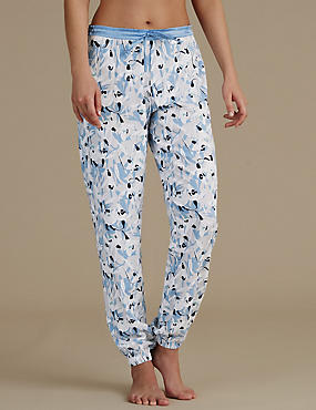 Floral Print Cuffed Pyjama Bottoms