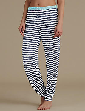 Cuffed Striped Pyjama Bottoms