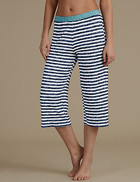 Striped Cropped Pyjama Bottoms