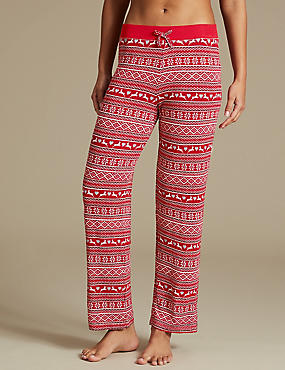 Fairisle Print Straight Leg Pyjama Bottoms