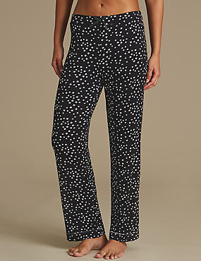 Star Print Straight Leg Pyjama Bottoms