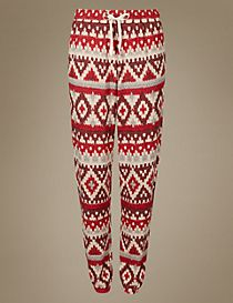 Fairisle Print Cuffed Hem Pyjama Bottoms