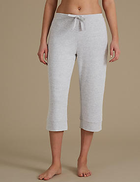 Textured Cropped Pyjama Bottoms
