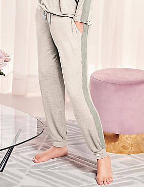 Lace Trim Cuffed Hem Pyjama Bottoms
