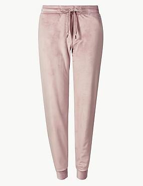 Fleece Pyjama Bottoms , PINK, catlanding