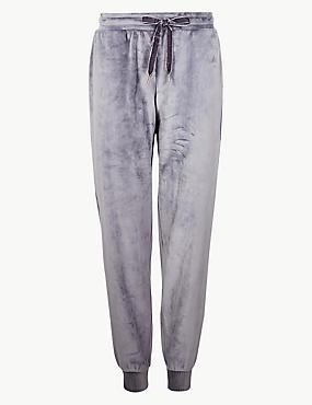 Fleece Pyjama Bottoms , DARK GREY, catlanding