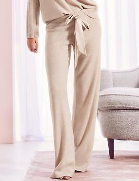 Pure Cashmere Long Pant Pyjama Bottoms , OATMEAL, catlanding
