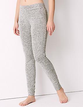 Cosy Knit Legging Pyjama Bottoms, GREY MIX, catlanding