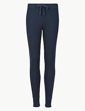 Cotton Blend Long Pant Pyjama Bottoms, NAVY, catlanding