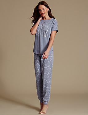 Printed Short Sleeve Pyjamas