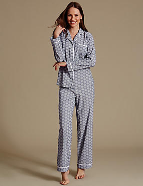 Pure Cotton Printed Long Sleeve Pyjama Set