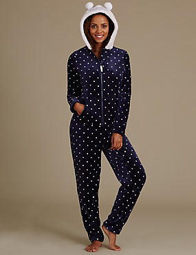Owl Fleece Long Sleeve Onesie