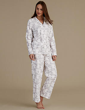 Pure Cotton Revere Collar Pyjama Set