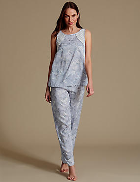 Pure Modal Printed Sleeveless Pyjamas