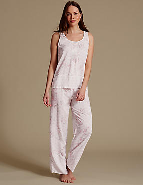 Pure Modal Printed Sleeveless Pyjama Set